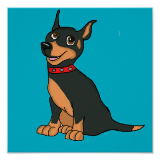 Doberman cards and paper products poster