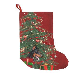 Doberman Christmas Small Christmas Stocking