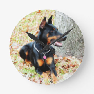 Doberman Clock