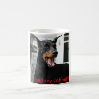 Doberman coffee cup. coffee mug