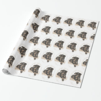 Doberman Dog Natural Ears Wrapping Paper
