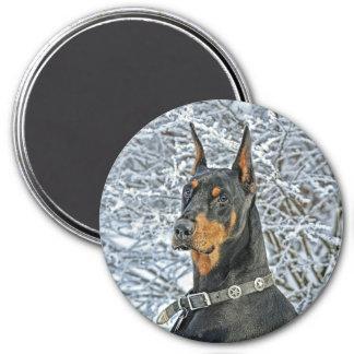 Doberman Fosty Day Magnet