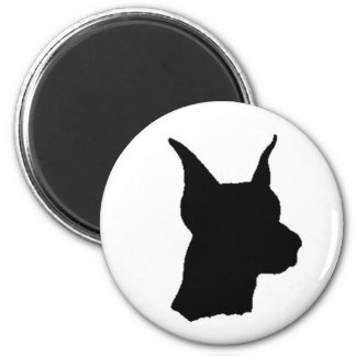 Doberman Head Magnent 2 Inch Round Magnet
