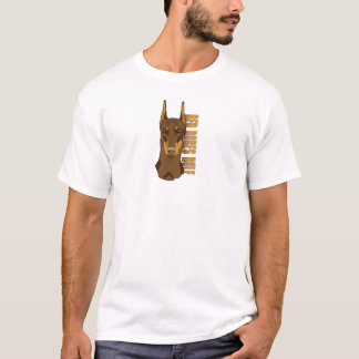 Doberman Head, Red Dobes Rule T-Shirt