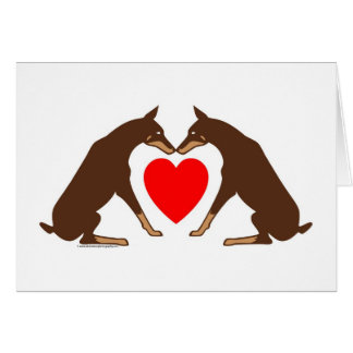 Doberman Heart Card