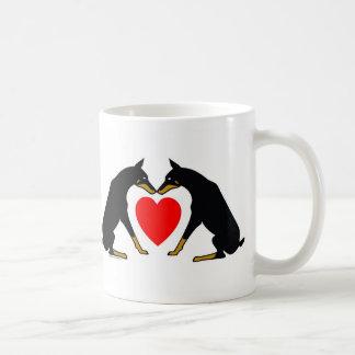 Doberman Heart Coffee Mug