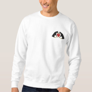 Doberman Heart Embroidered Sweat Shirt