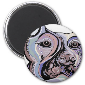 Doberman in Denim Colors Magnet