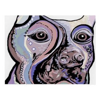 Doberman in Denim Colors Postcard