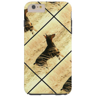 Doberman in Dry Reeds Painting Image Tough iPhone 6 Plus Case