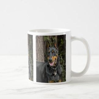 Doberman in Forest Coffee Mug