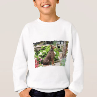 Doberman - In the Church Garden Sweatshirt