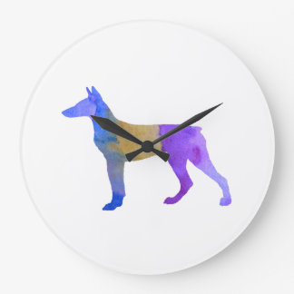 Doberman Large Clock