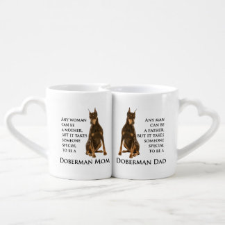 Doberman Mom and Dad Mug Set
