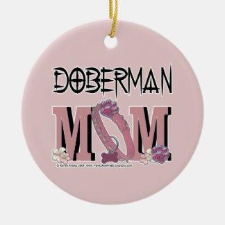 Doberman MOM Ceramic Ornament