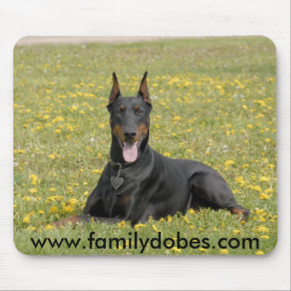 Doberman mousepad black