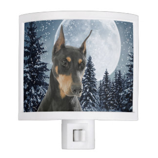 Doberman Night Light
