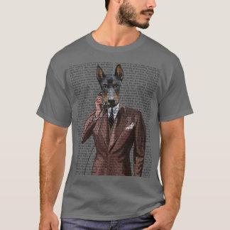 Doberman on Phone T-Shirt