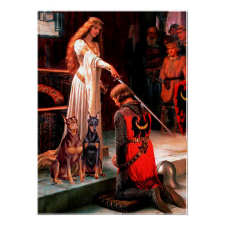 Doberman Pair - The Accolade Poster