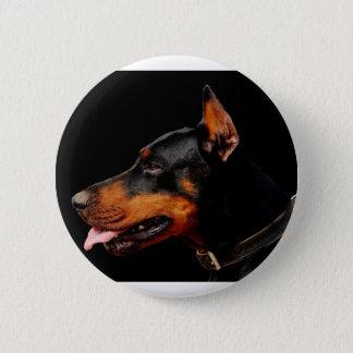 Doberman Pet Dog 2 Inch Round Button