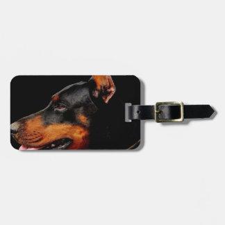 Doberman Pet Dog Luggage Tag