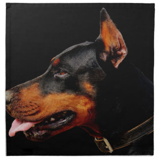 Doberman Pet Dog Napkin