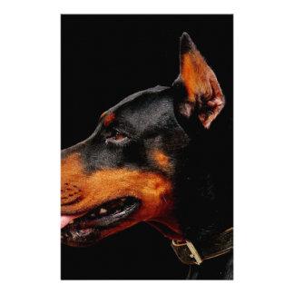 Doberman Pet Dog Stationery