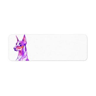 Doberman Pink Address Labels