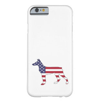 "doberman pinscher ""american flag"" barely there iPhone 6 case"