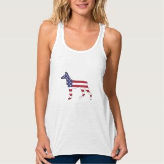 """doberman pinscher """"american flag"""" tank top"""