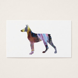 Doberman Pinscher Art Business Card