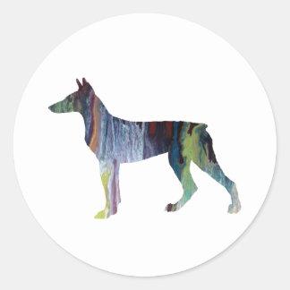 Doberman Pinscher Art Classic Round Sticker