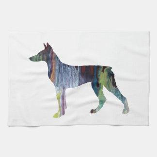 Doberman Pinscher Art Kitchen Towel