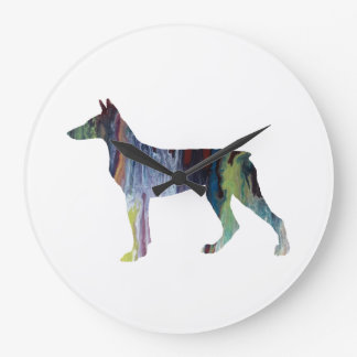 Doberman Pinscher Art Large Clock