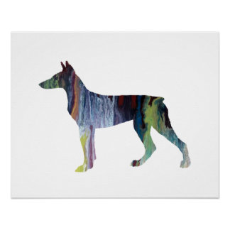 Doberman Pinscher Art Poster