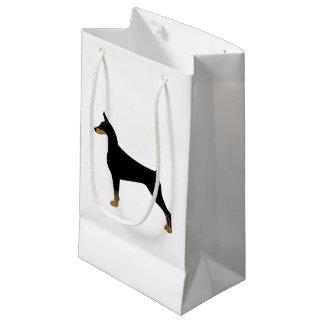 Doberman Pinscher Basic Dog Breed Illustration Small Gift Bag