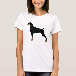 Doberman Pinscher Basic Dog Breed Illustration T-Shirt