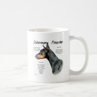 Doberman Pinscher (blk) History Design Coffee Mug