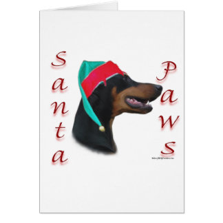 Doberman Pinscher (blk) Santa Paws Card