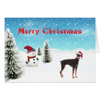 Doberman Pinscher Christmas Card