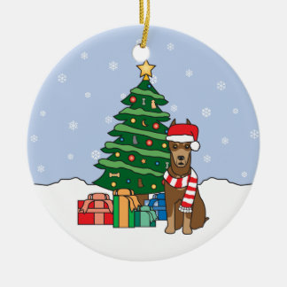 Doberman Pinscher Christmas Ornament