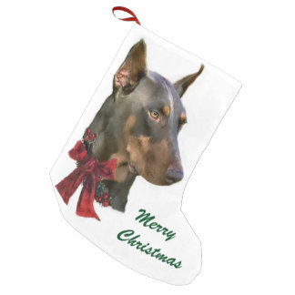 Doberman Pinscher Christmas Small Christmas Stocking