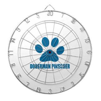DOBERMAN PINSCHER DOG DESIGNS DARTBOARD