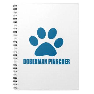 DOBERMAN PINSCHER DOG DESIGNS NOTEBOOKS