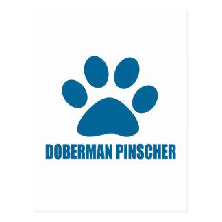 DOBERMAN PINSCHER DOG DESIGNS POSTCARD