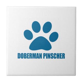 DOBERMAN PINSCHER DOG DESIGNS TILE