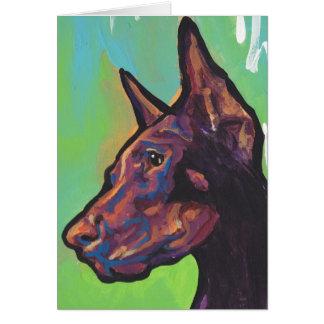 Doberman Pinscher Dog Pop Art Card