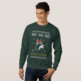Doberman Pinscher Dog Ugly Christmas Ho Ho Ho Sweatshirt