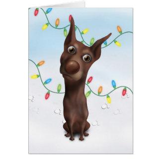 Doberman Pinscher (Fawn) Christmas Card