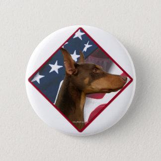 Doberman Pinscher Flag 2 2 Inch Round Button